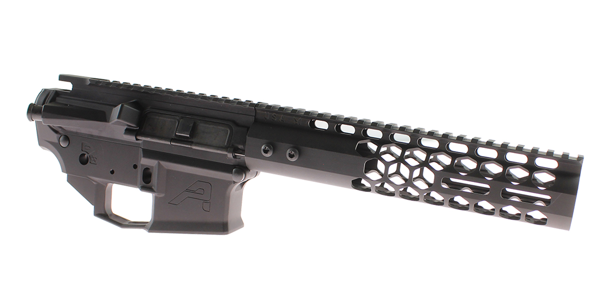 DD Custom Arms AR-15 Builder Set Featuring Aero Precision M4E1 Upper and Lower Receivers, Guntec Honeycomb 9