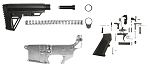 Combo Deal AR-15 US Tactical 80% Lower + KAK Industries LPK + Trinity Force Alpha Stock