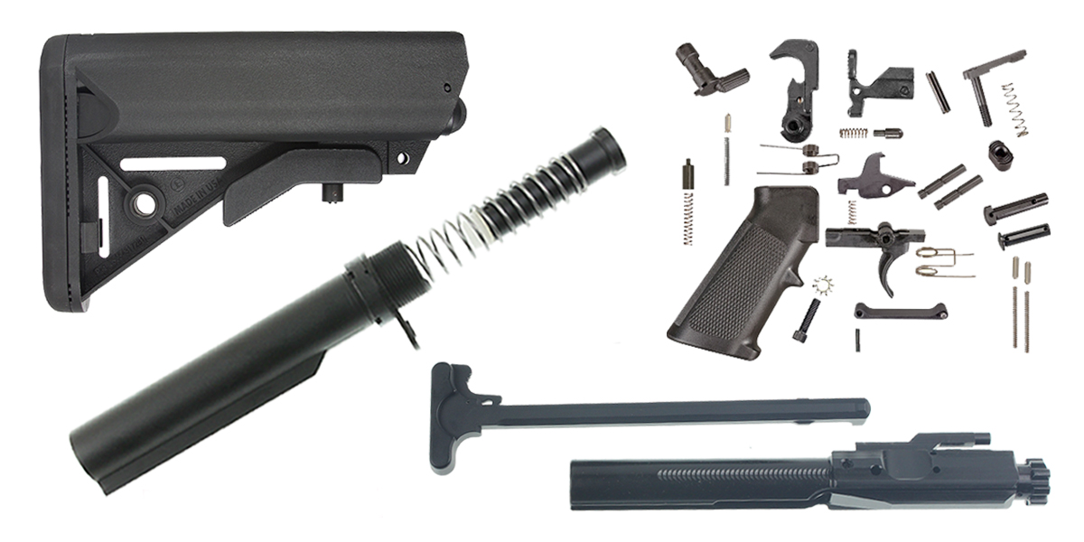 JE Machine LR-308 SOPMOD Stock Finish Your Rifle Build Kit - .308 WIN/6.5 Creedmoor