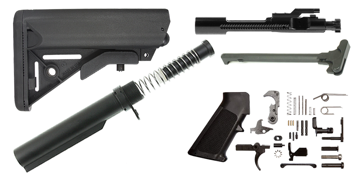 Davidson Defense AR-15 SOPMOD Stock Finish Your Rifle Kit - .450 Bushmaster/.458 Socom