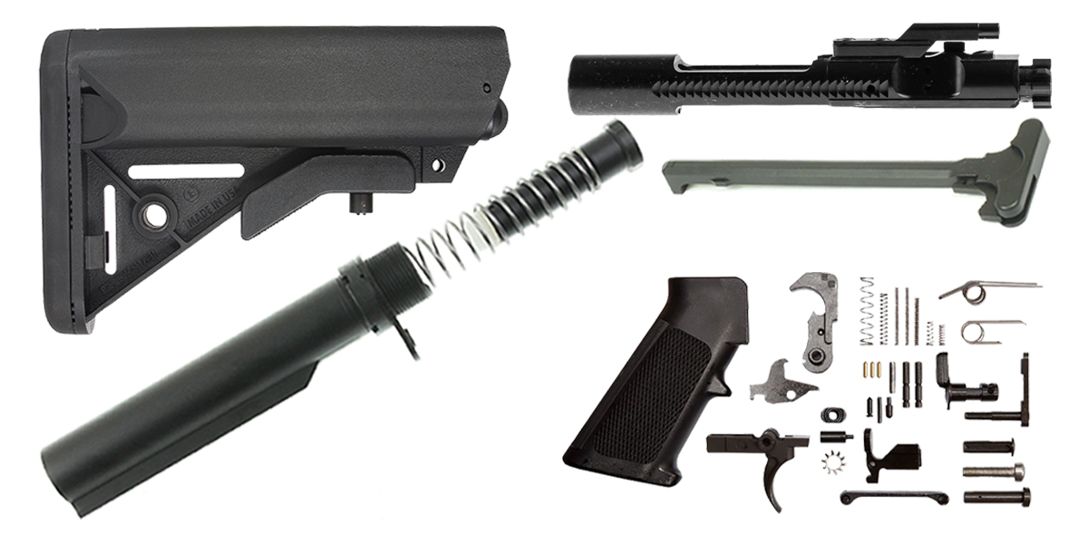 Davidson Defense AR-15 SOPMOD Stock Finish Your Rifle Kit - 6.8 SPC/.224 Valkyrie