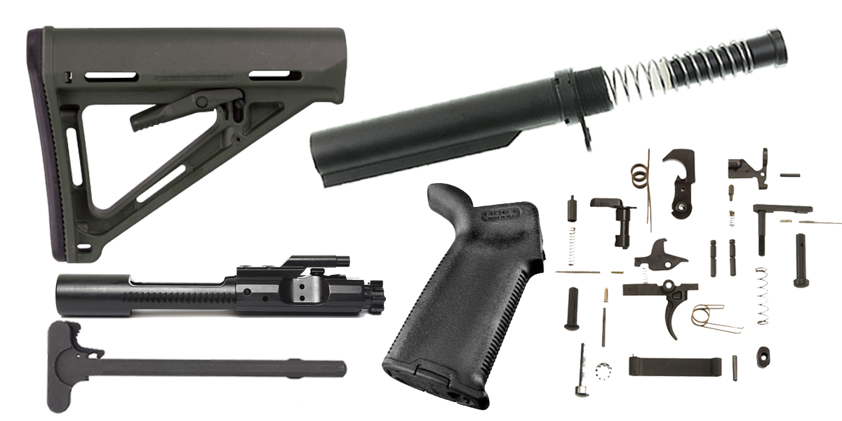 Magpul AR-15 MOE Stock and Grip Finish Your Rifle Build Kit - 5.56/.223/.300/.350