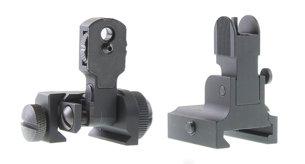Combo Deal AR-15 Aim Sports Flip Up Sight Combo (Rear and Front Sight)