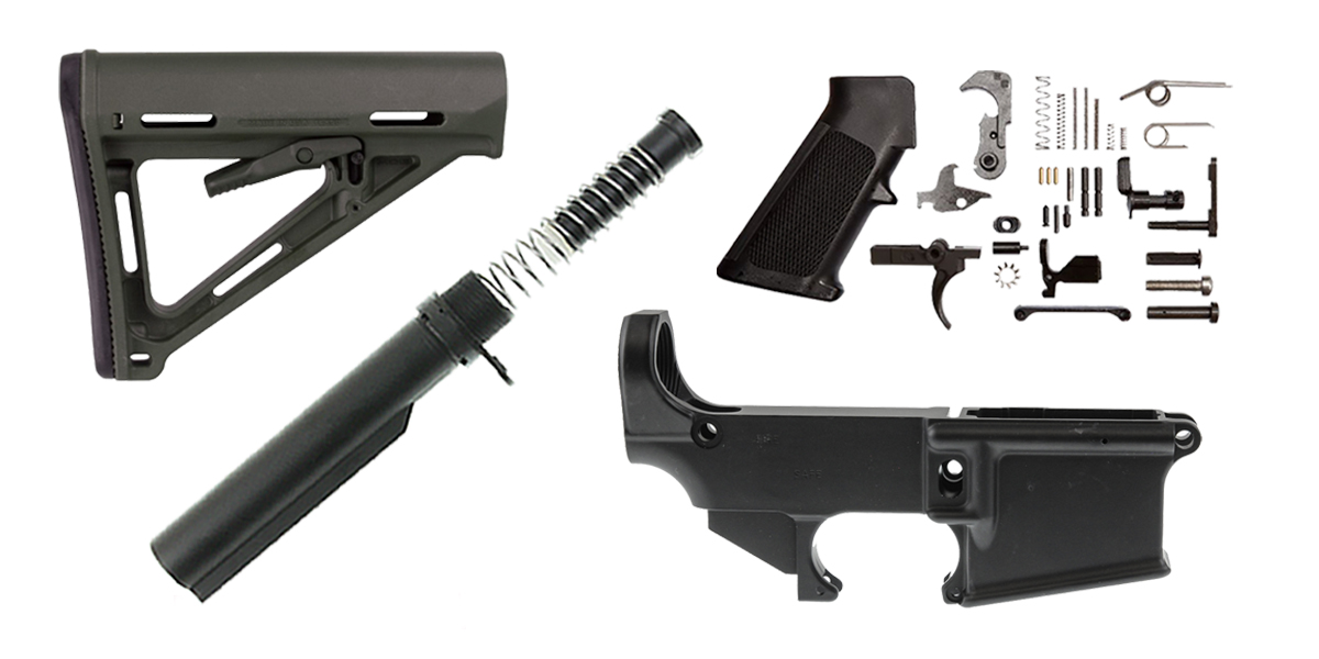 Combo Deal Magpul MOE AR-15 Finish Your Anodized 80% Lower Kit