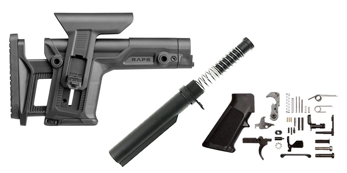 Combo Deal FAB Defense RAPS AR-15 Finish Your Lower Rifle Kit