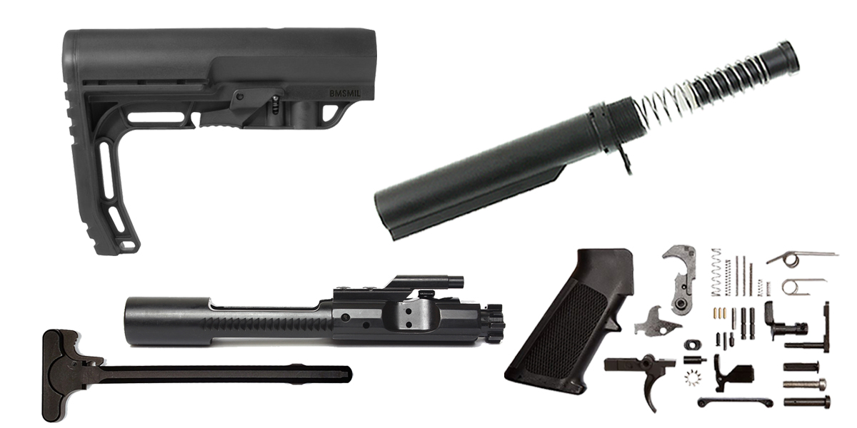 Custom Deal Mission First Tactical AR-15 Finish Your Rifle Build Kit - 5.56/.223/.300/.350