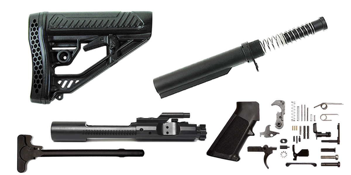 Custom Deal Adaptive Tactical AR-15 Finish Your Rifle Build Kit - 5.56/.223/.300/.350