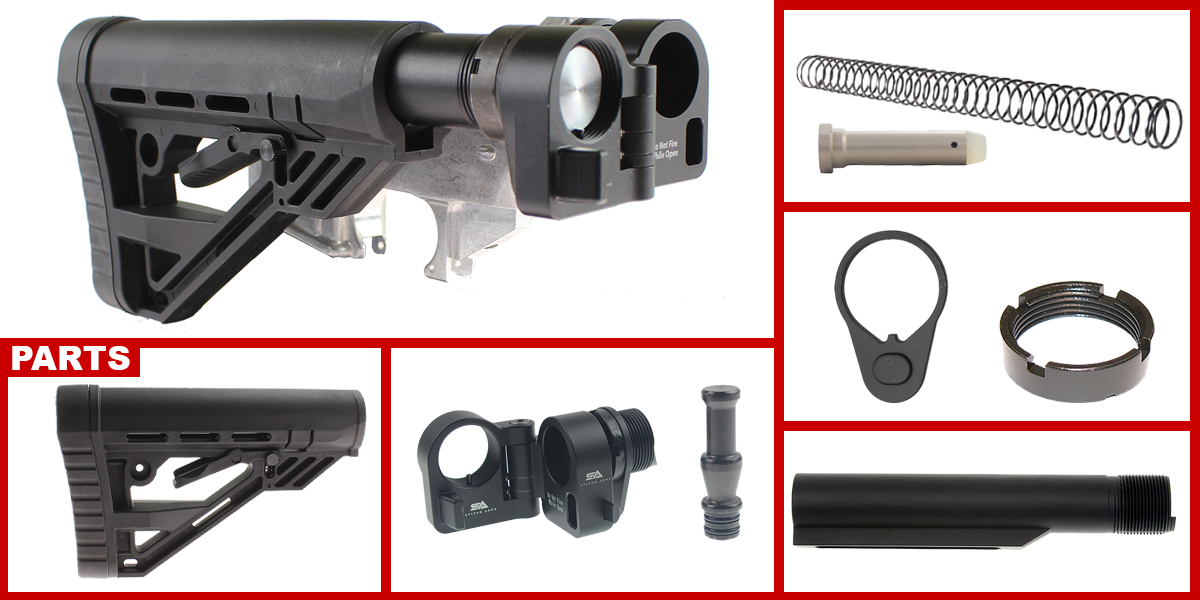 Custom Deals AR-15 Sylvan Arms Folding Stock Adapter + Davidson Defense AR-15