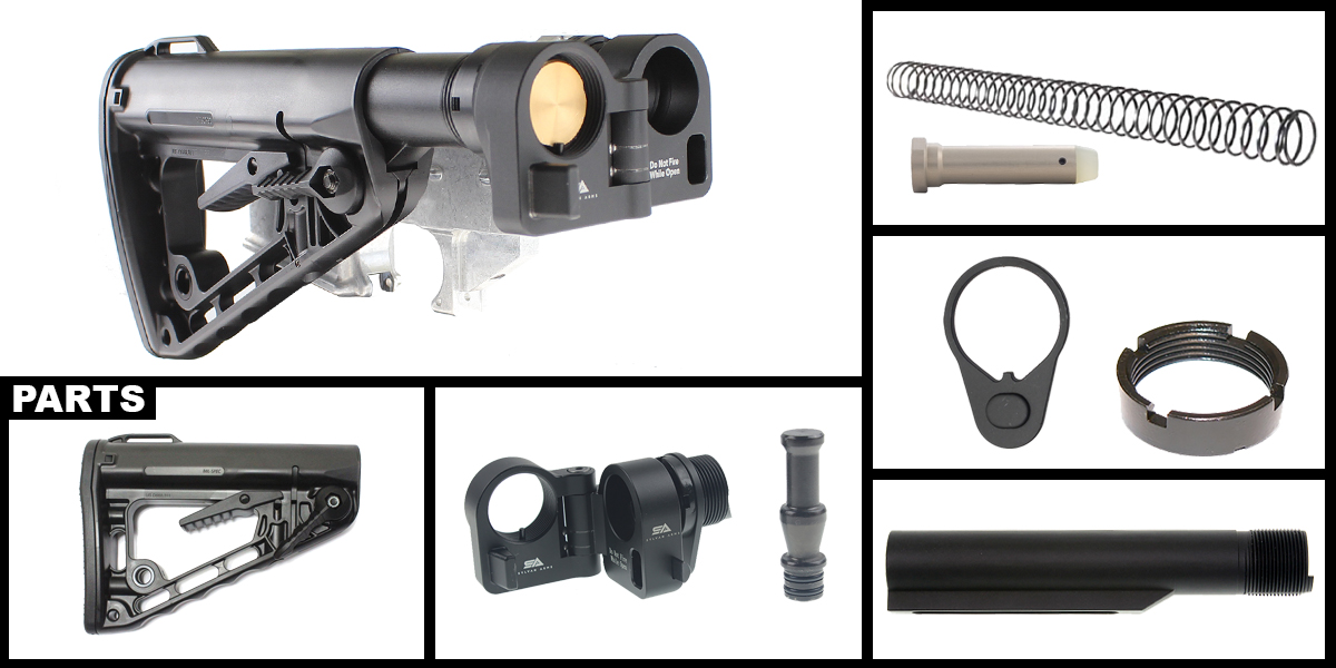 Custom Deals AR-15 Sylvan Arms Folding Stock Adapter + Genuine Rodgers Mil-Spec Super-Stock Deluxe Buttstock