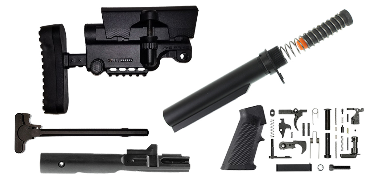 Custom Deal A*B Arms AR-15 Sniper Stock Finish Your Rifle Build Kit - 9mm
