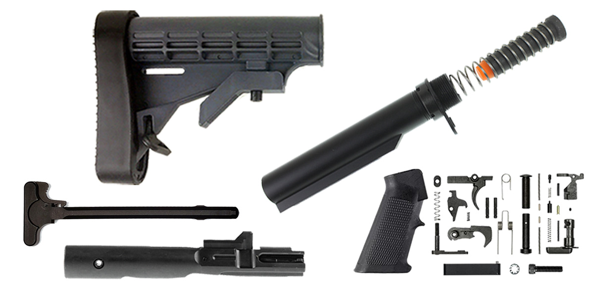 Custom Deal Lakota Ops AR-15 LE Stock Finish Your Rifle Build Kit - 9mm