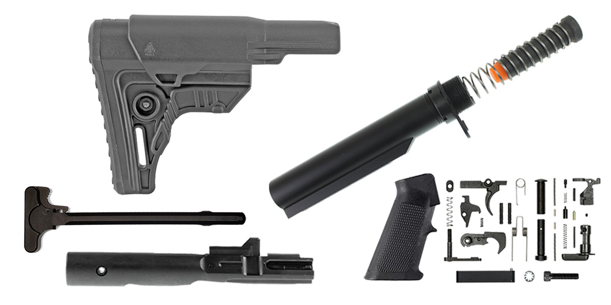 Custom Deal Leapers AR-15 UTG Pro Finish Your Rifle Build Kit - 9mm
