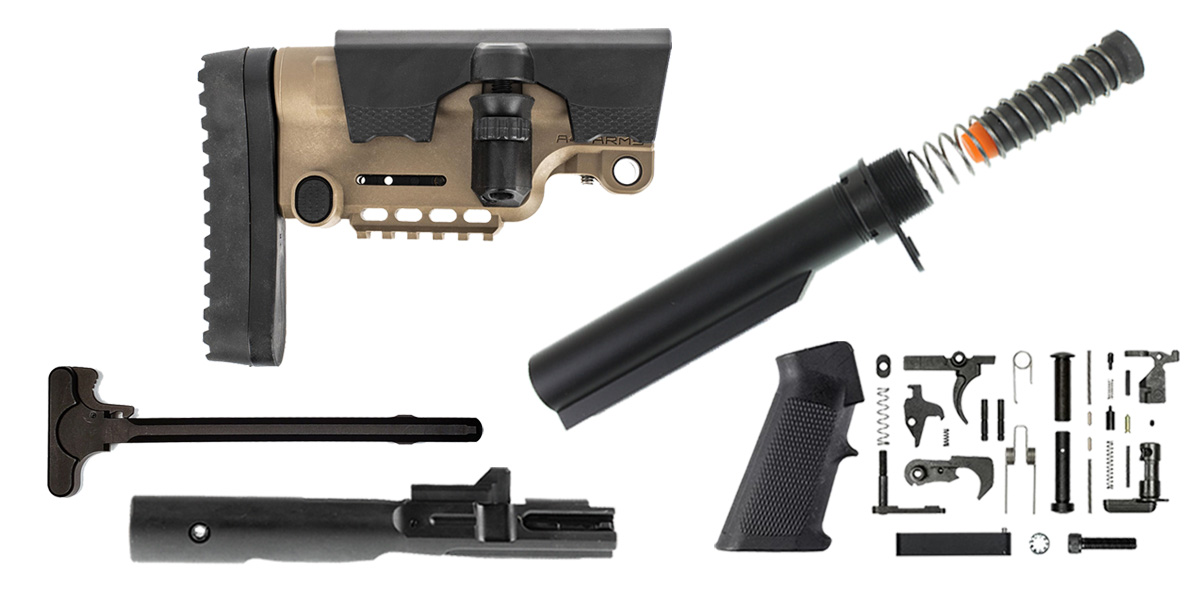 Custom Deal A*B Amrs AR-15 UTG Urban Sniper Stock Finish Your Rifle Build Kit - 9mm