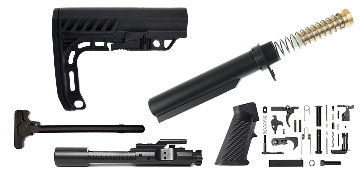 Custom Deal Lakota Ops AR-15 Minimalist Stock Finish Your Rifle Build Kit - 5.56/.223/.300/.350