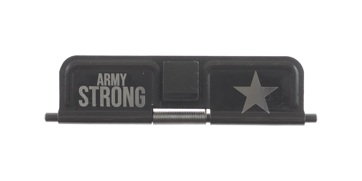 Custom Deal AR-15 Custom Engraved KAK Industries Dust Door - ARMY STRONG