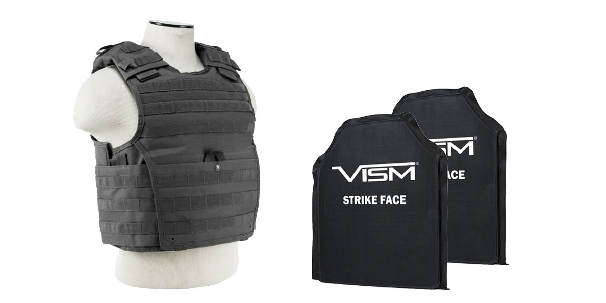 Custom Deal VISM Expert Plate Carrier Vest + 2 - Vism level IIIA Ballistic Soft Panels 10