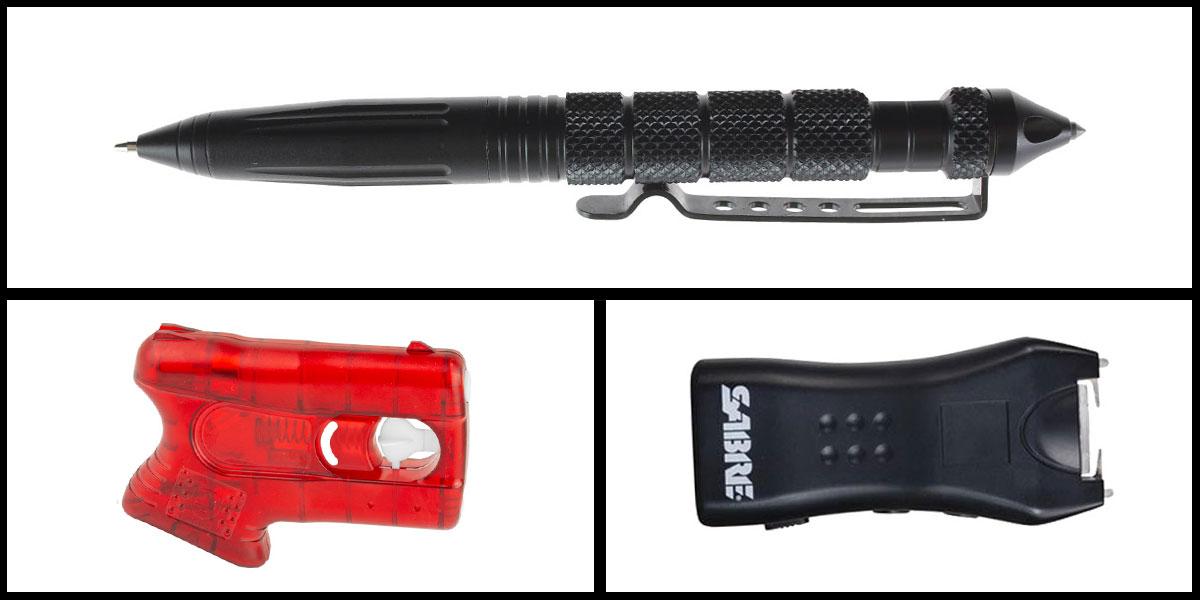 Custom Deal Less Lethal Combo Kimber Pepperblaster II + Sabre Mini Stun Gun + Heavy Duty Tactical Pen