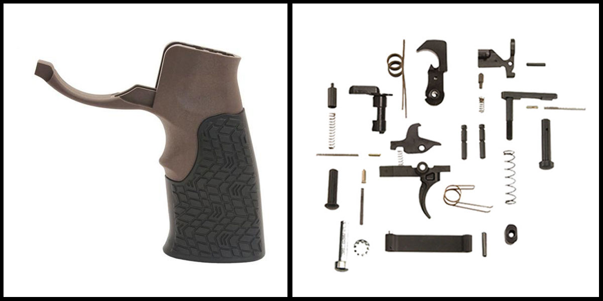Custom Deal KAK AR-15 Lower Parts Kit w/ no Grip + Daniel Defense Pistol Grip w/ Trigger Guard