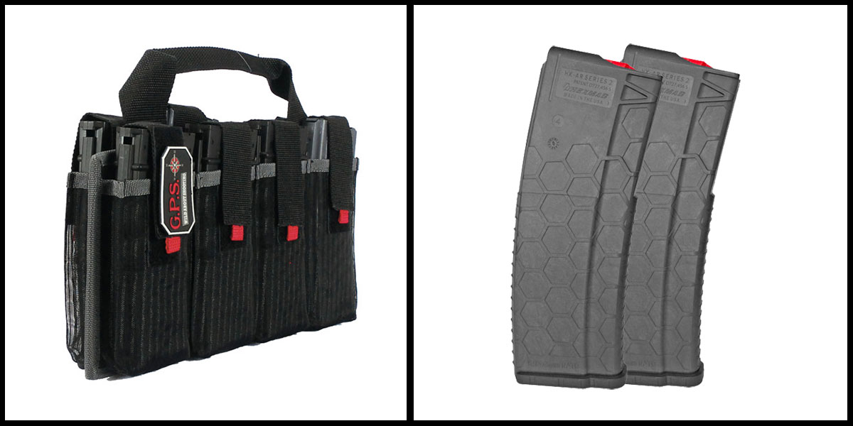 Custom Deal G-Outdoors Inc AR-15 Magazine Tote + HEXMAG AR-15 Magazine x2
