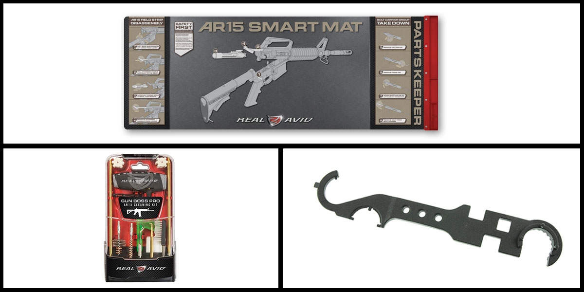 Custom Deal Real Avid Smart Mat + Real Avid Gun Boss Pro AR-15 Cleaning Kit + AIM Sports AR-15 Enhanced Rail Tool