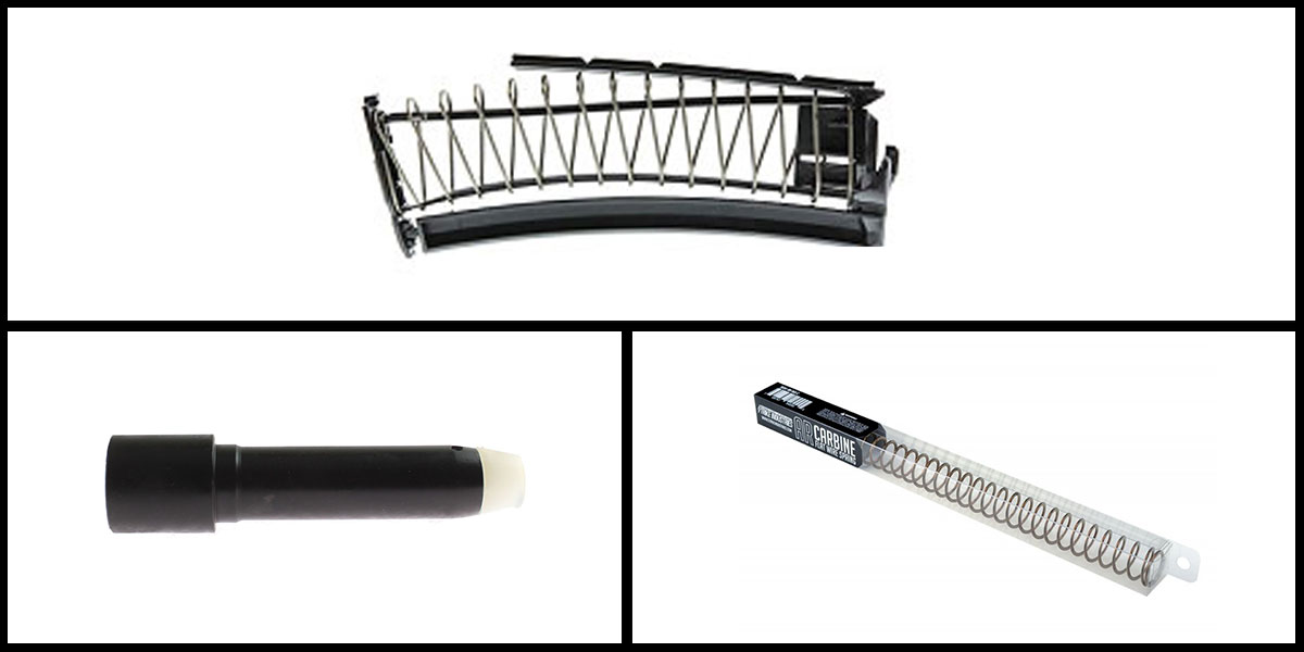 Custom Deal Mean Arm's EndoMag 9mm PMAG Conversion Kit + 8oz 9mm Buffer - Black + Strike Industries AR 10 Carbine Flat Wire Spring