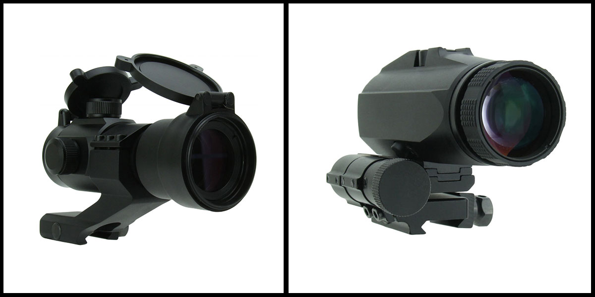 Custom Deal Flip to Side 3x Magnifier + TacFire 1x30 Dual Illuminated Red Dot - Black