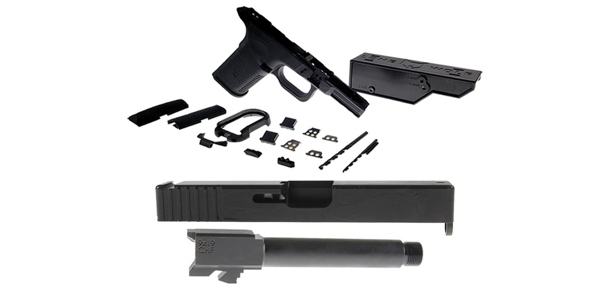Custom Deal DIY Pistol Kits Featuring: Lone Wolf Frame G19/G23 + ELD Performance Slide G19 + Cold Hammer Forged Threaded 9mm Barrel