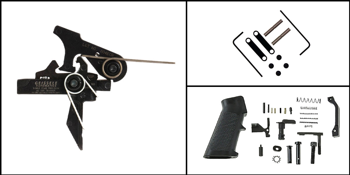 Custom Deal AR-15 Trigger Upgrade Kit Including Geissele Automatics Single-Stage Precision Dynamic Flat Bow Trigger +