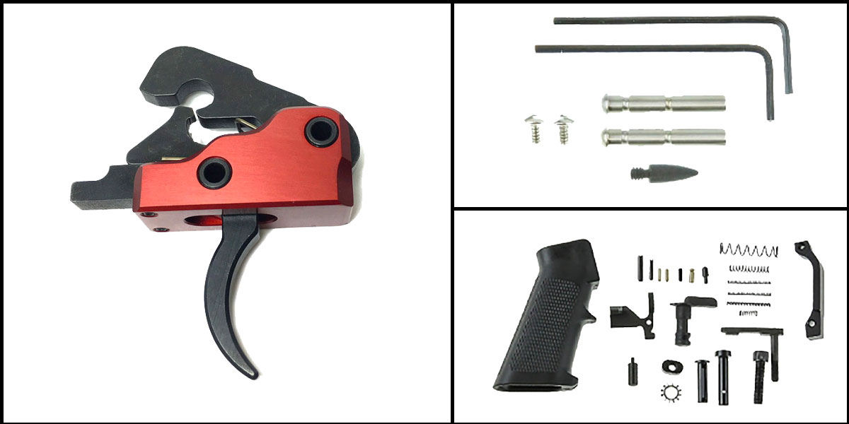 Custom Deal AR-15 Trigger Upgrade Kit Including Recoil Technologies Ultra Match Trigger System Crimson Red +