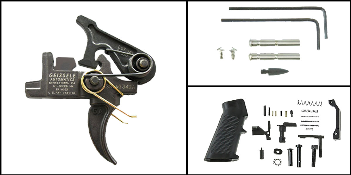 Custom Deal AR-15 Trigger Upgrade Kit Including Geissele Automatics Hi-Speed National Match Trigger Set +
