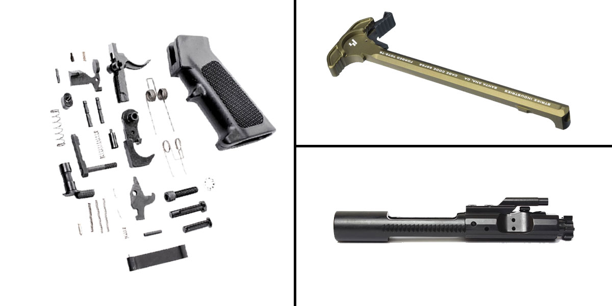 Custom Deal CMMG Lower Parts Kit + AR-15 5.56/.223/.300/.350 BCG + Strike Industries Charging Handle FDE