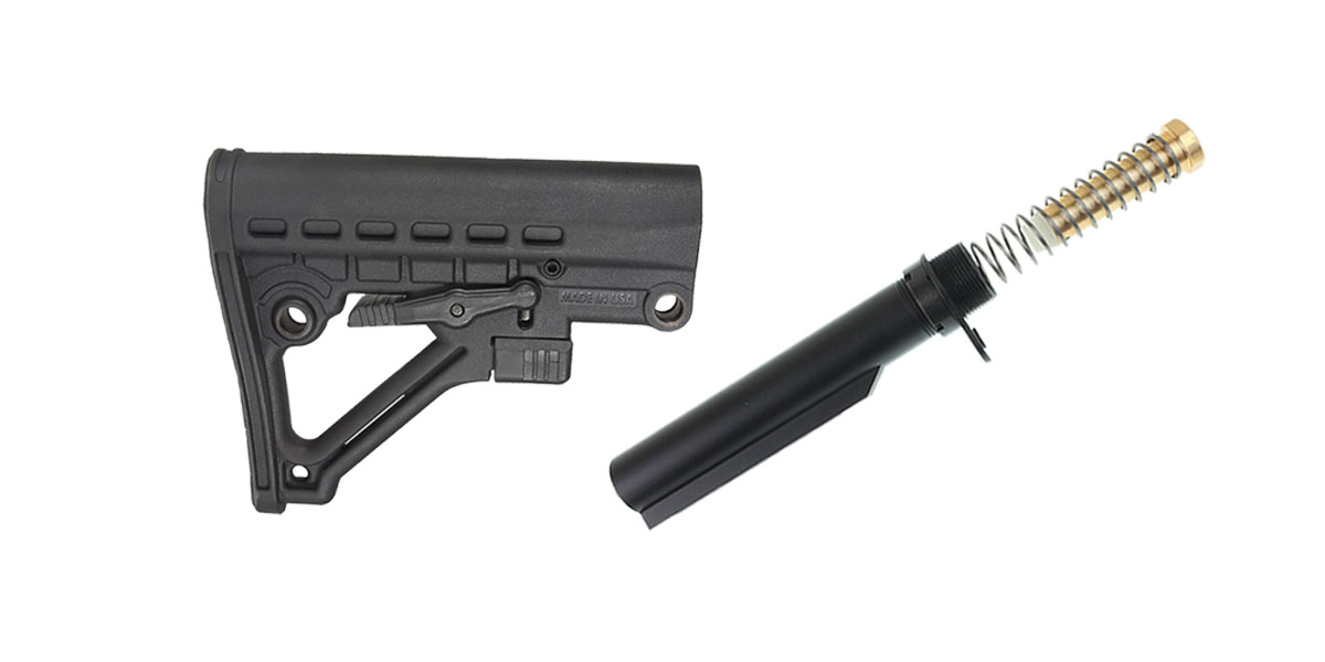 JE Omega Stock + Omega Mfg. Mil-Spec Buffer Tube Kit