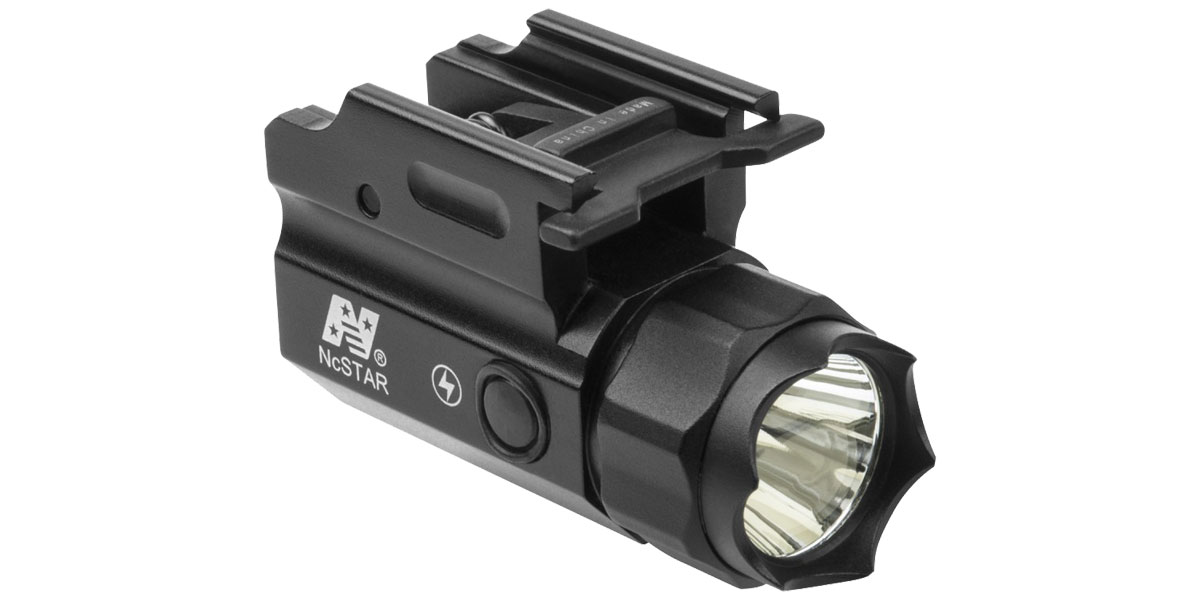 NCSTAR 150 Lumen LED Compact FlashLight QR w/Strobe, Uses CR2 Battery