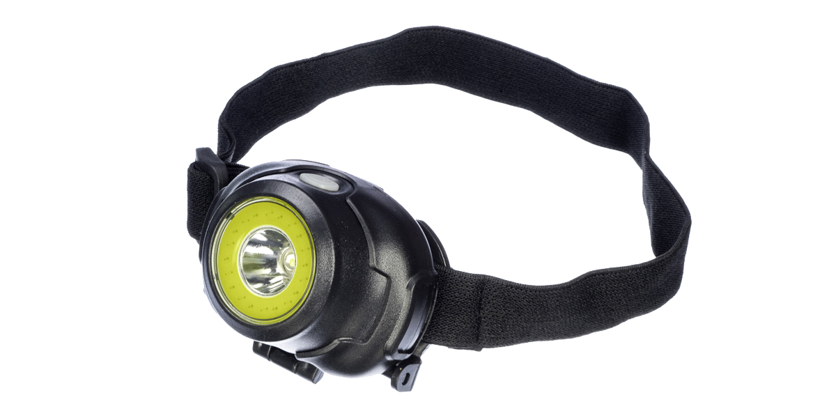 Head Lamp-3-in-1 COB (150 Lumen) & LED (100 Lumen), 3 St, Black