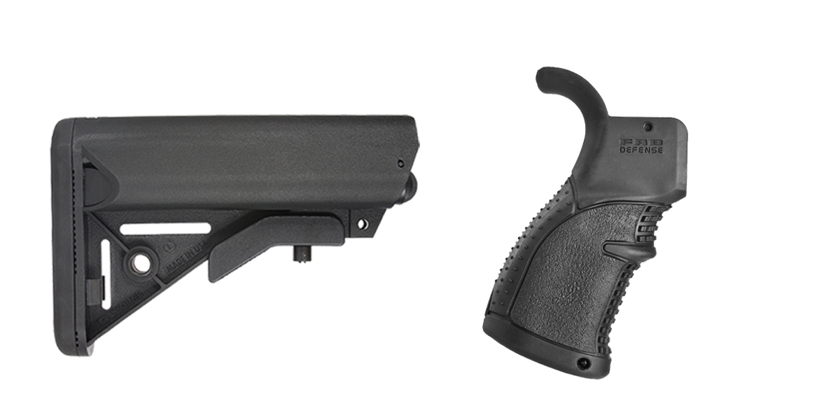 Custom Deal Stock and Pistol Grip Furniture Set: Featuring JE Machine + FAB Defense