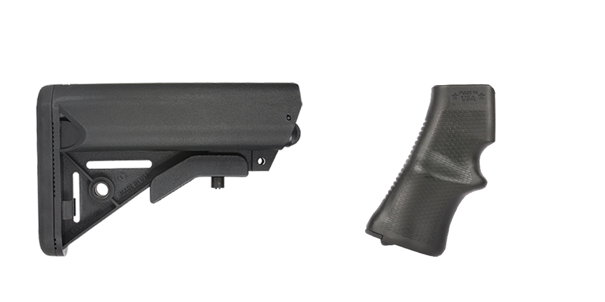 Custom Deal Stock and Pistol Grip Furniture Set: Featuring JE Machine + A*B Arms