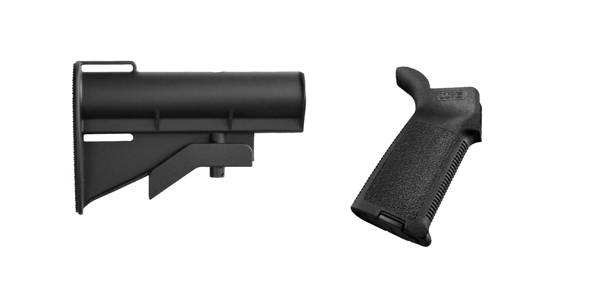 Custom Deal Stock and Pistol Grip Furniture Set: Featuring United Defense + Magpul