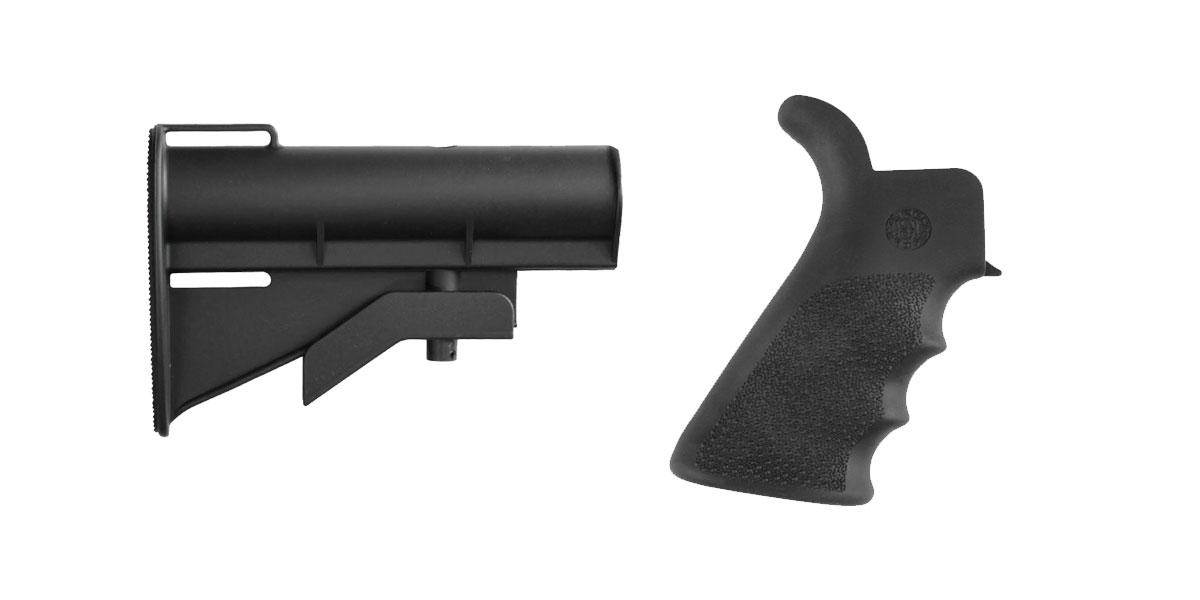 Custom Deal Stock and Pistol Grip Furniture Set: Featuring United Defense + Hogue