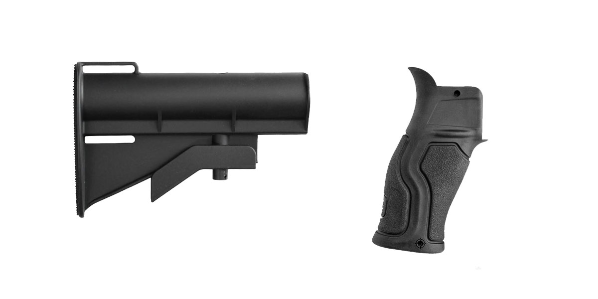 Custom Deal Stock and Pistol Grip Furniture Set: Featuring United Defense + FAB Defense