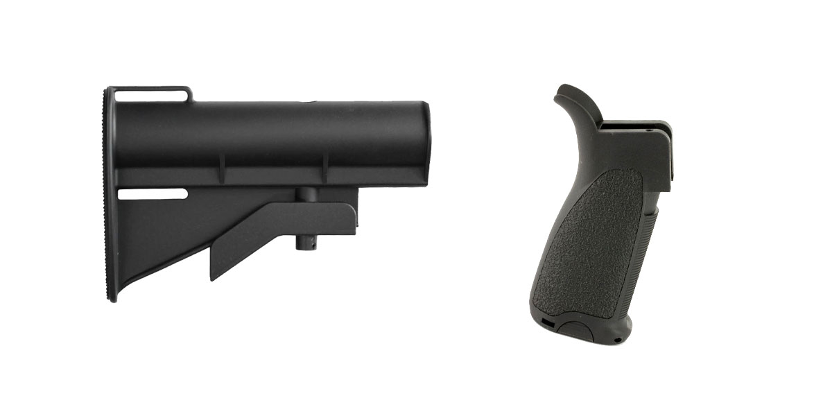 Custom Deal Stock and Pistol Grip Furniture Set: Featuring United Defense + Bravo Company