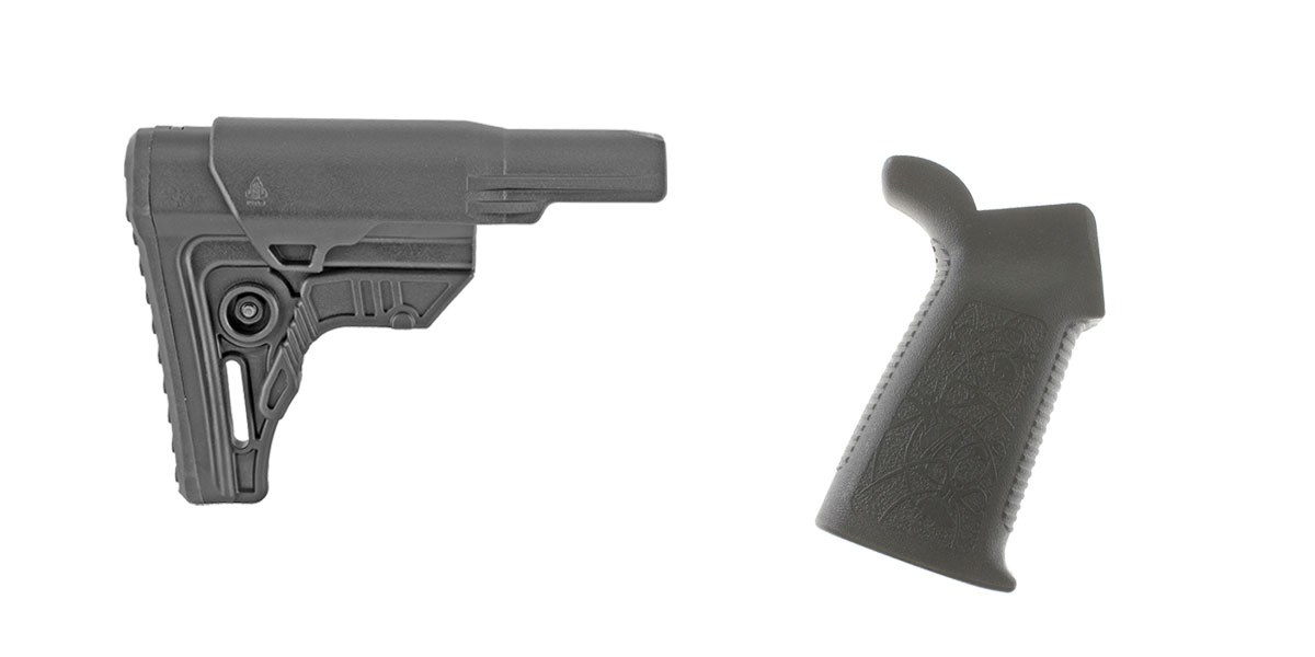 Custom Deal Stock and Pistol Grip Furniture Set: Featuring Leapers + Spike's Tactical