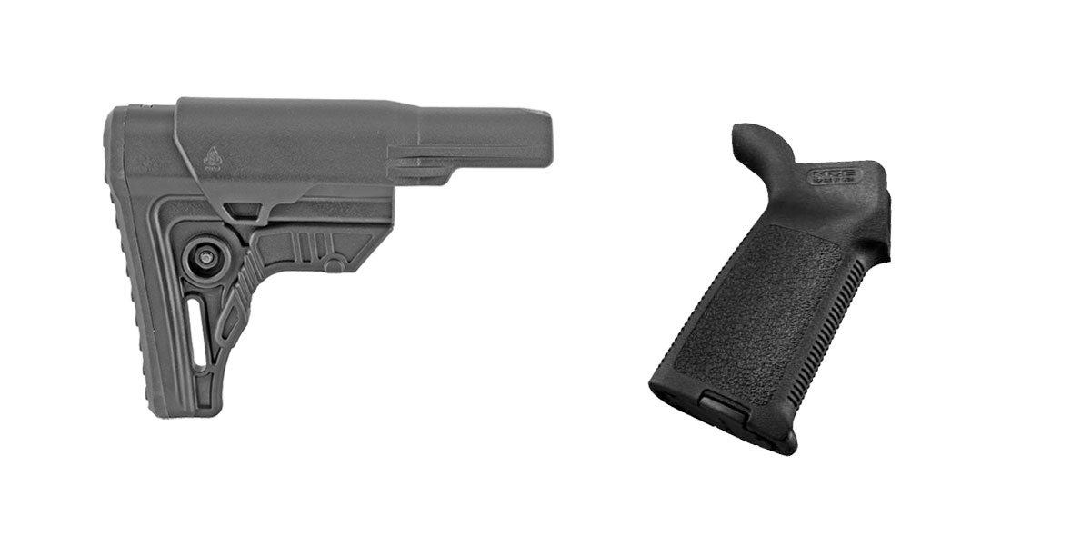 Custom Deal Stock and Pistol Grip Furniture Set: Featuring Leapers + Magpul