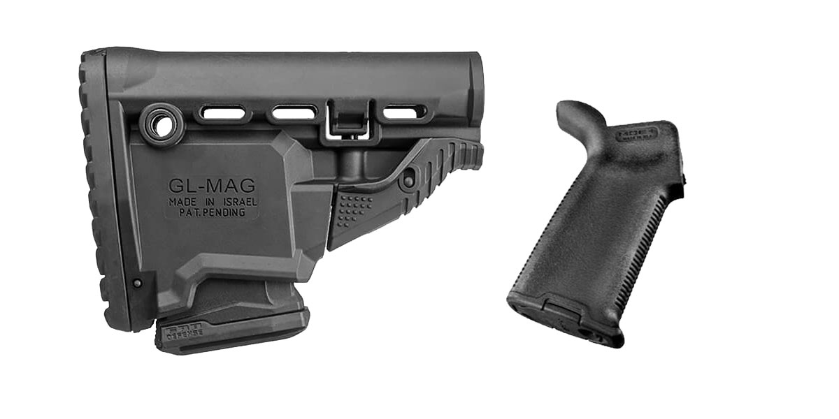 Combo Deal Stock and Pistol Grip Furniture Set: Featuring FAB Defense + Magpul