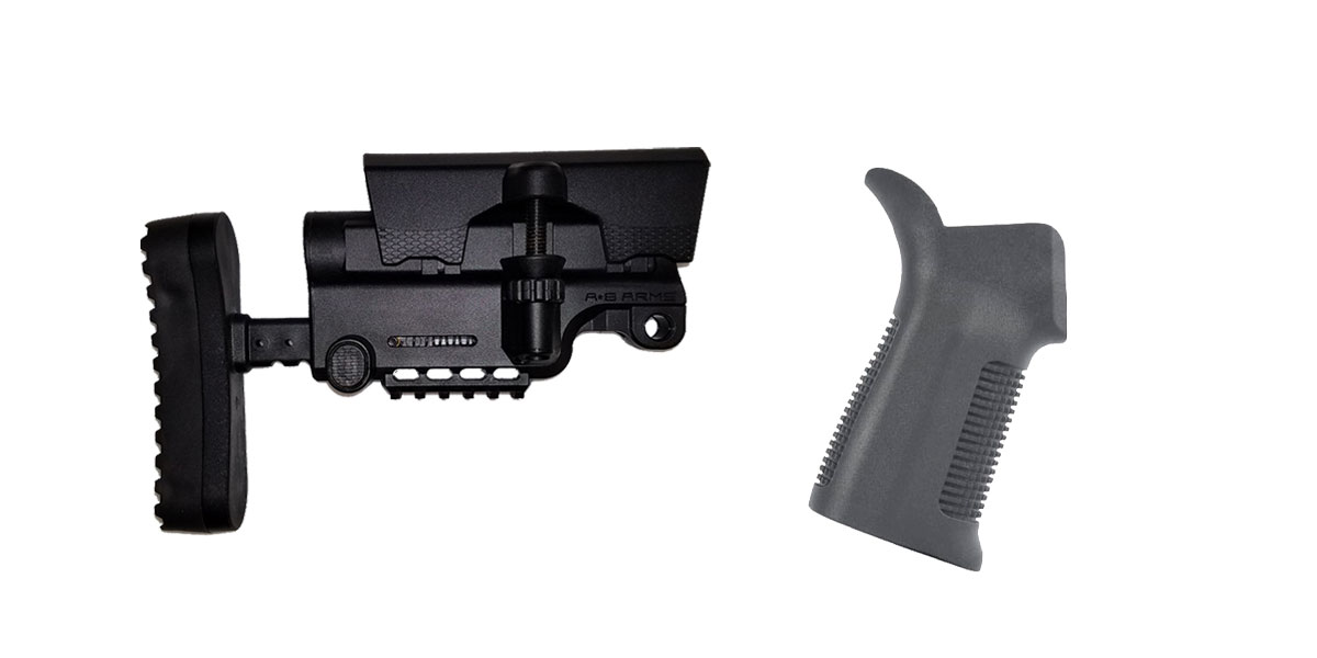 Combo Deal Stock and Pistol Grip Furniture Set: Featuring A*B Arms + Trinity Force