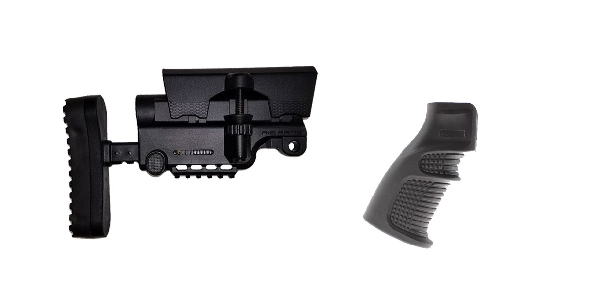 Combo Deal Stock and Pistol Grip Furniture Set: Featuring A*B Arms + United Defense