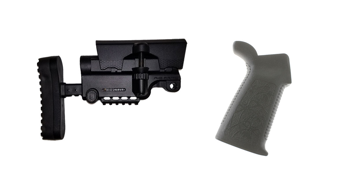 Combo Deal Stock and Pistol Grip Furniture Set: Featuring A*B Arms + Spike's Tactical