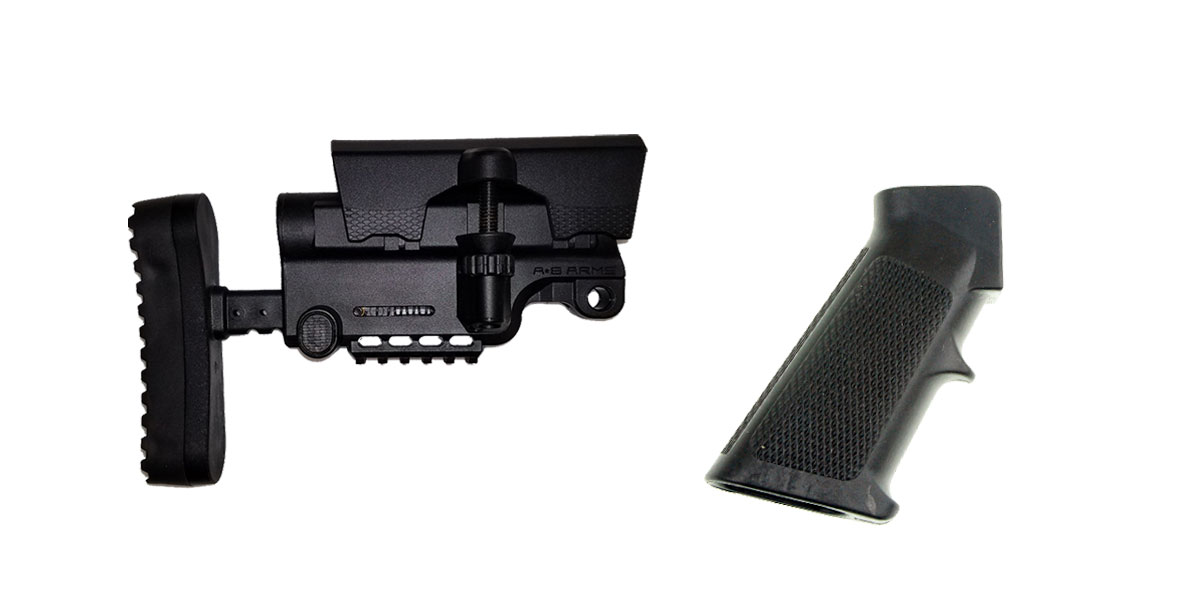 Combo Deal Stock and Pistol Grip Furniture Set: Featuring A*B Arms + MMC Armory