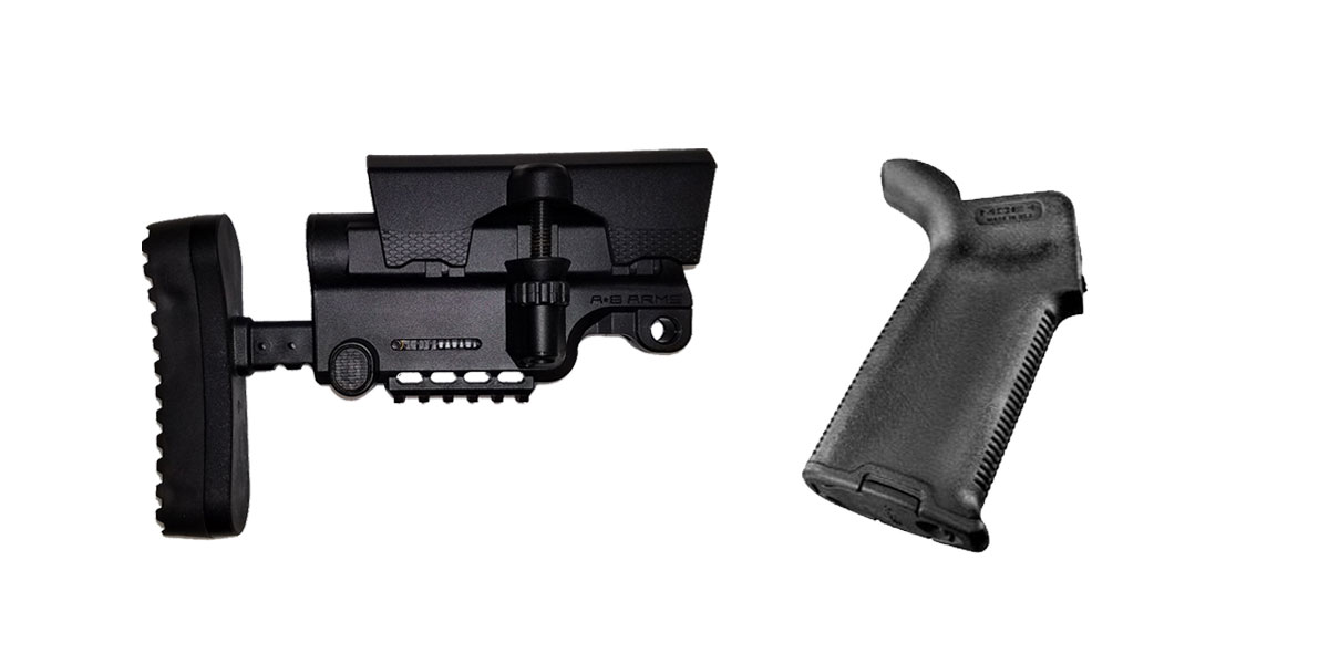Combo Deal Stock and Pistol Grip Furniture Set: Featuring A*B Arms + Magpul