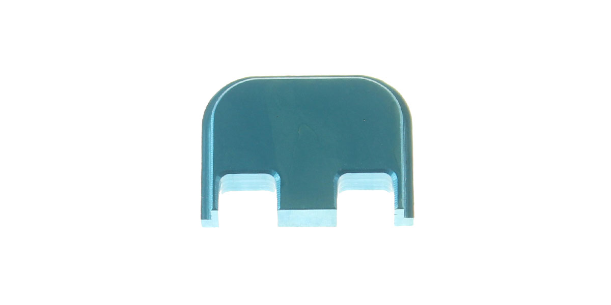 Glock Compatible Slide Back Plate - Anodized Teal