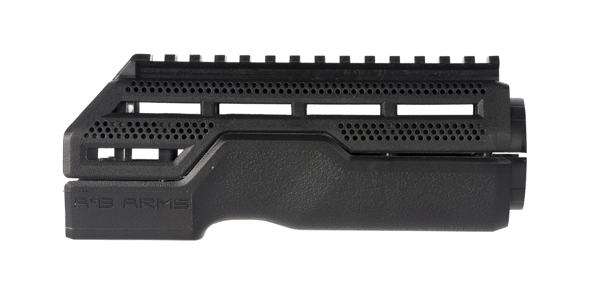 A*B ARMS MOD1 Black Hand Guard -  2 Piece Drop-In, Carbine Length, Integrated Top Picatinny Rail
